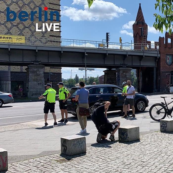 Verkehrskontrolle eine Woche lang - Friedrichshain